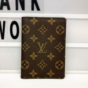 Louis Vuitton Monogram passport cover wallet